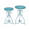 Benzara Gorgeous Set Of Two Metal Plant Stand