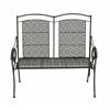 Benzara Contemporary Styled Metal Flower Bench