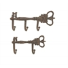 Benzara Customary Set Of Two Metal Key Hook