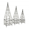 Benzara Alluring Set Of 3 Metal Trellis