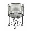 Benzara Amazing Metal Roll Storage Basket