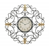 Benzara Customary Styled Metal Outdoor Scroll Wall Clock