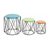 Fascinating Metal Accent Table Set Of 3