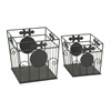 Benzara Enticing Set Of Two Metal Outdoor Planter