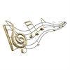 Melodious Metal Music Notes, Gold & Black