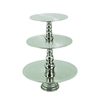 23 Inches High Aluminum 3/Tier Cake Stand