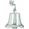 Benzara Aluminum Bell With Beautiful Wall Bracket