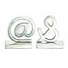 Aluminum Bookend Pair A Class Apart Home Decoration