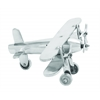 Benzara Aluminum Plane With Intricate Detailing And Rich Metallic Sheen