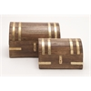 Benzara Trendy Box Set Of 2 With Brass Inlay