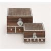 Benzara Exclusive Box Set 2 With Metal Inlay