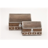 Benzara Stunning Box Set 2 With Metal Inlay
