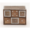 Benzara Fashionable Box With Drawers & Metal Inlay