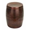 """Benzara Vintage Inspire Metal Bronze Stool 19""""H, 14""""W"""