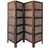 Benzara A Stylish 4 Hinged Wood 4 Panel Screen