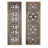 "Benzara Elegant Wall Sculpture - Wood Wall Panel 2 Assorted 36""H, 12""W"