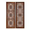 "Benzara Elegant Wall Sculpture - Wood Wall Panel 2 Assorted 48""H, 16""W"