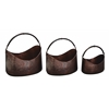 Benzara Metal Planter Set/3 Sculptured In Boat Shape