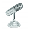 Benzara Suave Aluminum Microphone Shaped Trophy And Glossy Finish