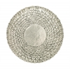 "Exclusive 23"" Metal Wall Round Shape Décor In Off White"