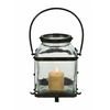 Metal Glass Lantern In Worn And Aged Finish
