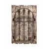 Rustic Style Wooden And Metal Wall Décor With Intricate Detailing
