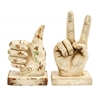 Assorted Polystone Hand Décor With Intricate Detailing - Set Of 2