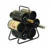 Benzara Wine Rack For Six Bottles With Space Saving Design