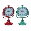 Durable Metal Clock In Red And Green Color - Set Of 2