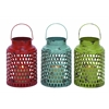 Benzara Metal Candle Holder 3 Assorted With Lantern Design
