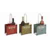 Benzara The Rustic Metal Wine Holder 3 Assorted