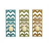 Benzara Exclsuive Metal Glass Candle Wall Sconce 3 Assorted