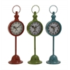 The Statuesque Metal Table Clock 3 Assorted