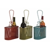 Benzara The Lovely Metal Wine Basket 3 Assorted