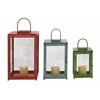 Benzara Beautiful Styled Set Of 3 Metal Candle Lantern