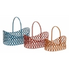 Benzara Simply Lovely Metal Basket Set Of 3