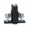 "Benzara Library Aluminum Globe Bookend Pair 7""H, 5""W"