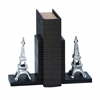 "Library Aluminum Effile Bookend Pair 7""H,5""W"