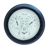 Outdoor Clock Detailed With Bold Numerals In Black Font