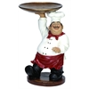 Polystone Chef With Tray Amusing Decor