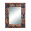 "Benzara Classy 36"" Wood And Mirror With Metallic Trinkets On The Edges"