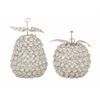 "Benzara Attractive Metal Bead Apple Pear Set Of 2 5""W, 7""H"