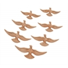 "Benzara Beautiful Aluminum Bird Decor Set Of 7 16"",14"",12"",10""W"