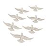 "Amazing Aluminum Bird Decor Set Of 7 16"",14"",12"",10""W"