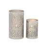"Metal Candle Lantern Set Of 2 9"", 6""H"