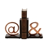 "Gorgeous Aluminum Bookend Pr 6""W, 7""H"