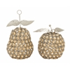 "Benzara Amazing Metal Bead Apple Pear Set Of 2 5""W, 7""H"