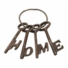 "Beautiful Aluminum Bronze Home Key Set Of 4 4""W, 7""H"