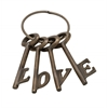 "Stunning Aluminum Bronze Love Key Set Of 4 4""W, 7""H"