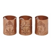 "Benzara Astonishing Metal Buddha Votive Holder Set Of 3 4""W, 5""H"